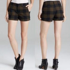 Rag & Bone Portabello Shorts in Plaid Size 30
